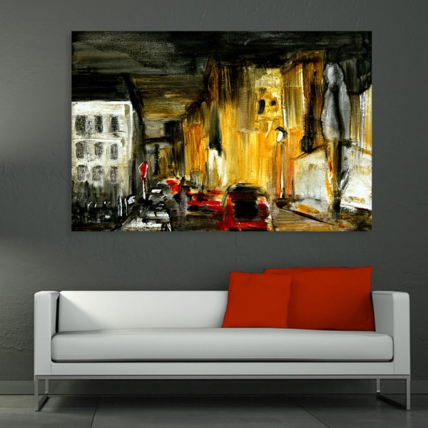 Canvas Painting - Place d'Italie France Art Wall Painting for Living Room