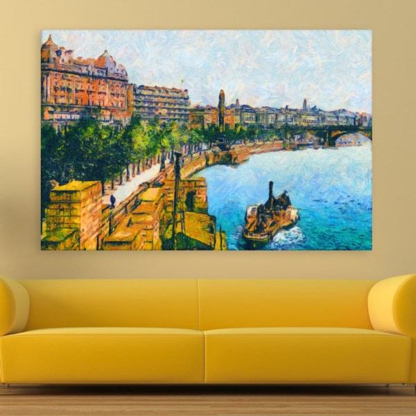 Canvas Painting - Thames Embankment Art Wall Painting for Living Room