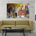 Canvas Painting - Beautiful Autumn Art Wall Painting for Living Room