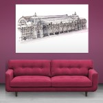 Canvas Painting - Musee d'Orsay Museum Paris Illustration Art Wall Painting for Living Room