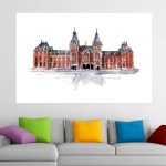 Canvas Painting - Rijks Museum Amsterdam Illustration Art Wall Painting for Living Room