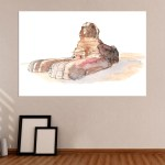 Canvas Painting - Great Sphinx of Giza Illustration Art Wall Painting for Living Room