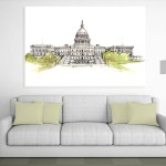 Canvas Painting - United States Capitol Complex Illustration Art Wall Painting for Living Room