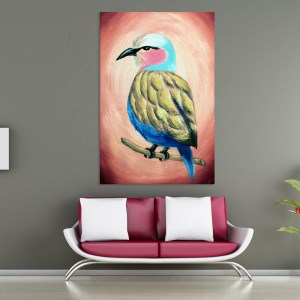 Canvas Painting – Beautiful Bird Art Wall Painting for Living Room, Bedroom, Office, Hotels, Drawing Room (61cm X 91cm)