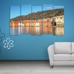 Multiple Frames Beautiful Europe Wall Painting for Living Room