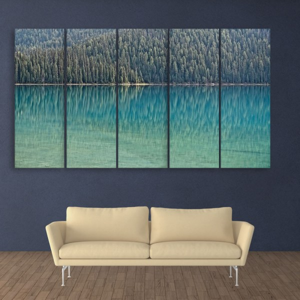Multiple Frames Beautiful Lake Wall Painting for Living Room