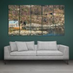 Multiple Frames Beautiful Mountain Wall Painting for Living Room