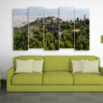 Multiple Frames Beautiful City Wall Painting for Living Room