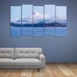 Multiple Frames Beautiful Mountains Wall Painting for Living Room