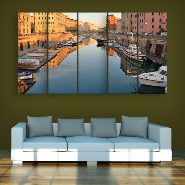 Multiple Frames Beautiful Venice Italy Wall Painting for Living Room