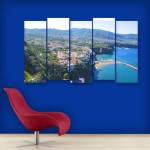 Multiple Frames Beautiful Scenario Wall Painting for Living Room
