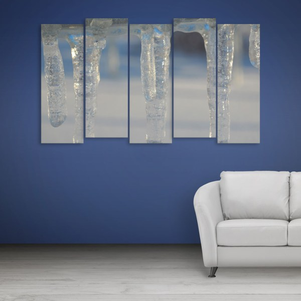 Multiple Frames Beautiful Winters Wall Painting for Living Room
