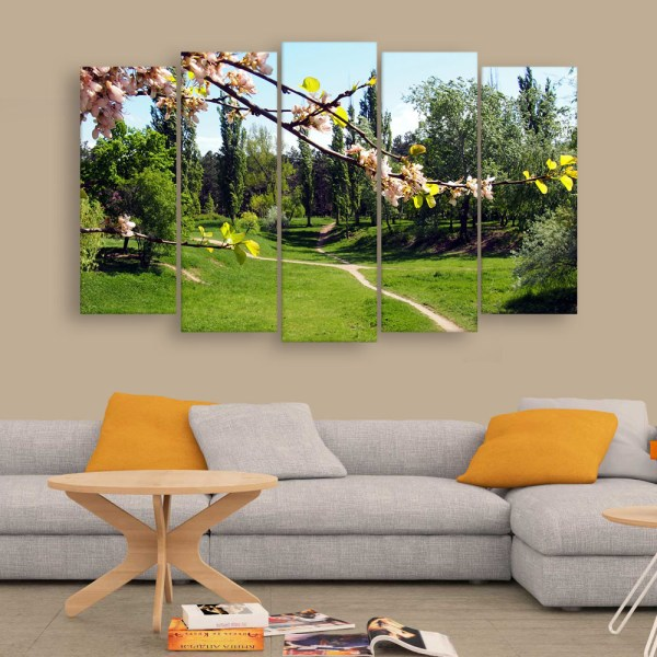 Multiple Frames Beautiful Garden Wall Painting for Living Room