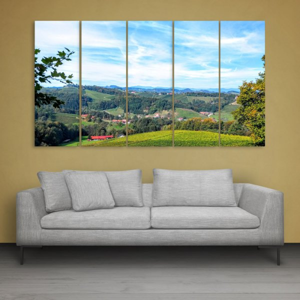 Multiple Frames Beautiful Forest Wall Painting for Living Room