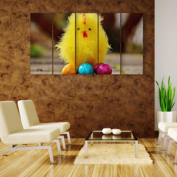 Multiple Frames Beautiful Chick Wall Painting for Living Room