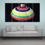 Multiple Frames Beautiful Spinner Wall Painting for Living Room