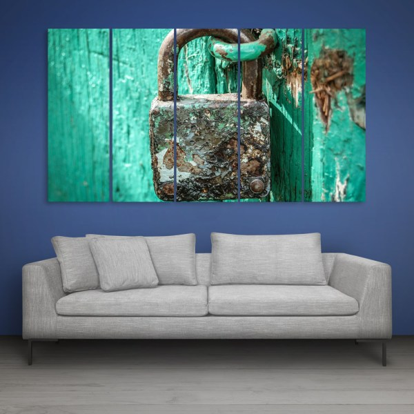 Multiple Frames Beautiful Lock Wall Painting for Living Room