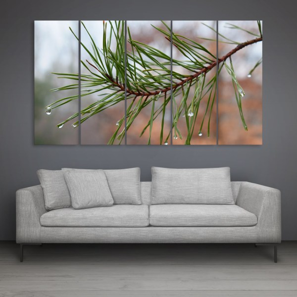 Multiple Frames Beautiful Rain Drops Wall Painting for Living Room