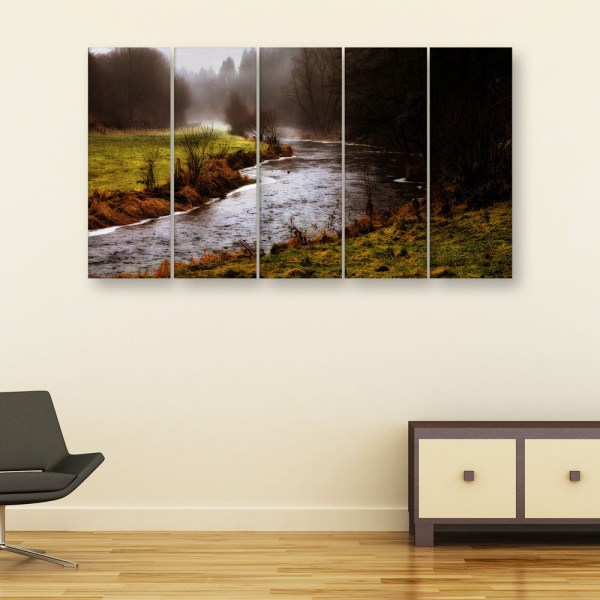 Multiple Frames Beautiful Nature Wall Painting for Living Room