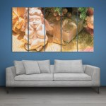 Multiple Frames Beautiful Sculpture Wall Painting for Living Room
