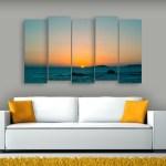 Multiple Frames Beautiful Sunset Painting (150cm x 76cm)
