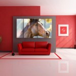 Multiple Frames Beautiful Horse Wall Painting for Living Room