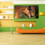 Multiple Frames Beautiful Horses Wall Painting for Living Room