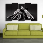 Multiple Frames Beautiful Keys Wall Painting for Living Room