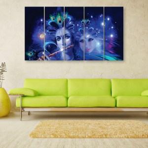 Multiple Frames Beautiful Radha Krishna Art Wall Painting for Living Room