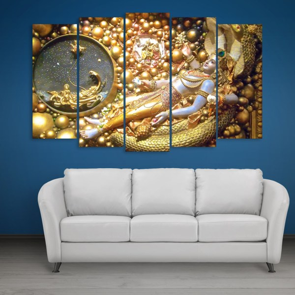 Multiple Frames Beautiful Krishna Wall Painting for Living Room