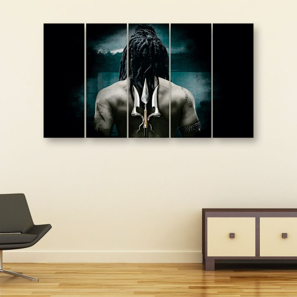 Multiple Frames Beautiful Lord Shiva Wall Painting for Living Room