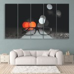 Multiple Frames Beautiful Glasses Wall Painting for Living Room