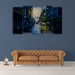 Multiple Frames Beautiful Water Drops Wall Painting for Living Room