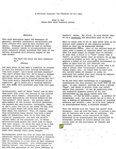 Personal Computer, Alan Kay - cover image and web link