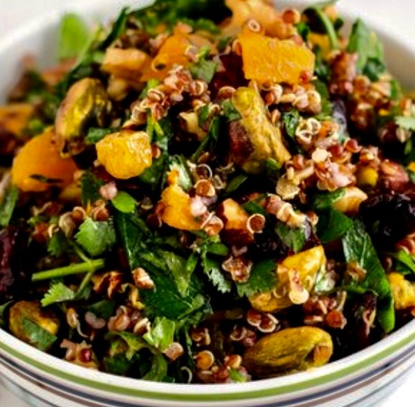 organic dried fruit quinoa salad