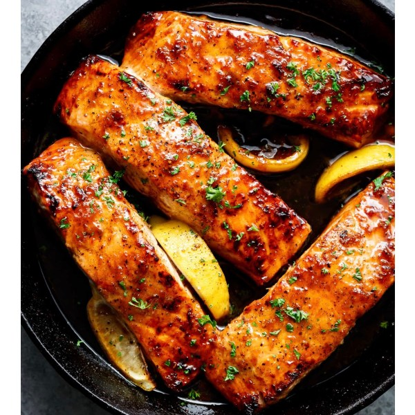 honey and lemon glazed salmon