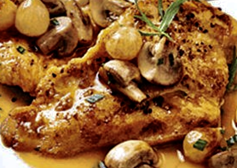 lemon chicken with mushrooms