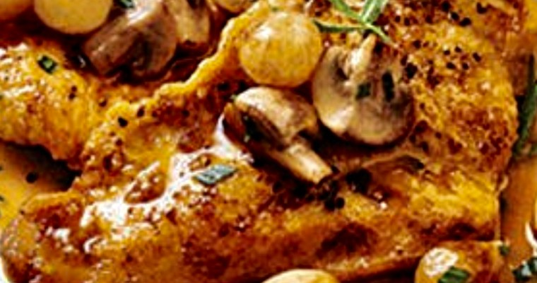 lemon chicken with mushrooms
