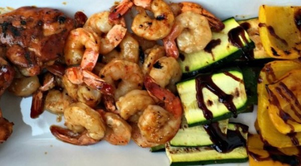 bbq chicken and shrimp