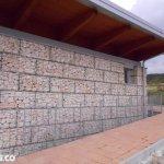 Muro con Gabbioni per Architettura