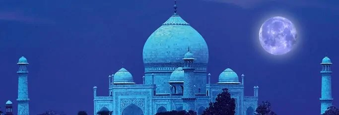 Taj Mahal on Full Moon Day