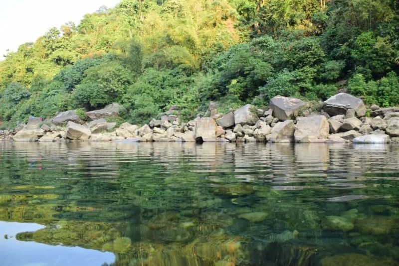 view from the boat,Umngot River,Dawki