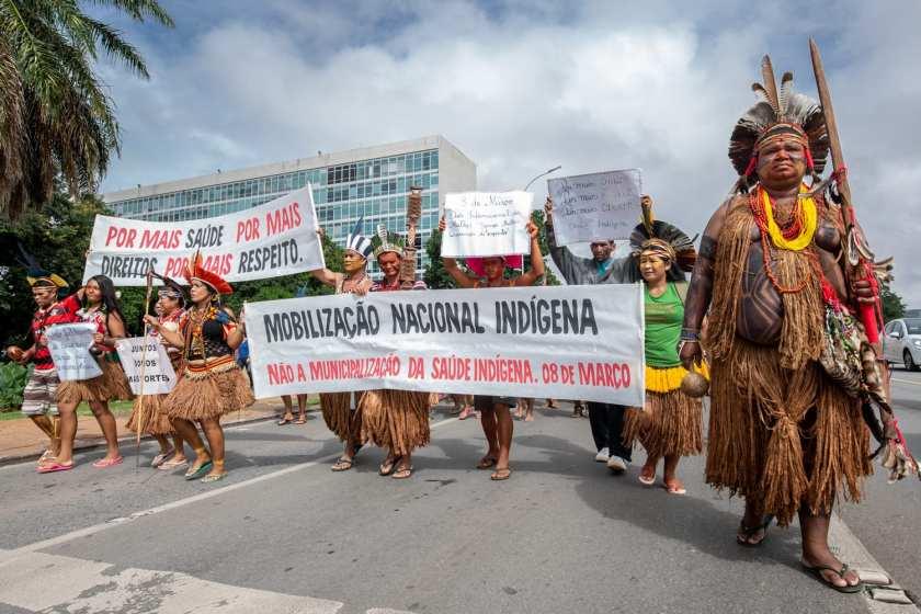 mobilização pela saúde indígena