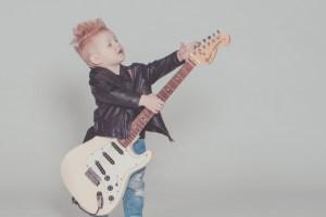 kid on guitar