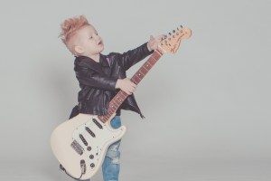 kid on guitar
