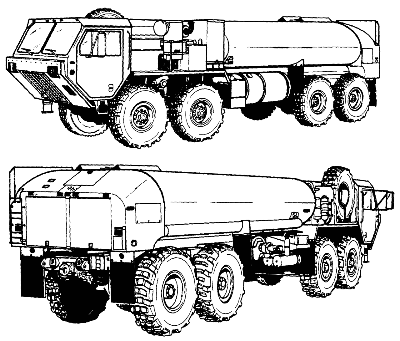 Army Fuel Truck Clip Art Sketch Coloring Page