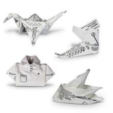 Quardanapos para fazer origami sem a ajuda do Plim Plim
