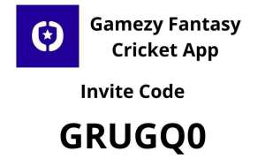 Gamezy Fantasy Cricket App invite code