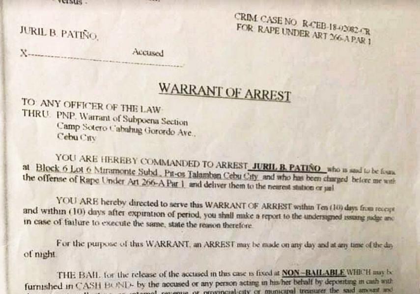 Juril Patino arrest warrant2
