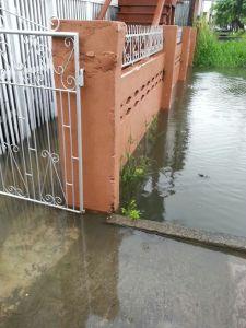 Flooding in Hadfield Street.